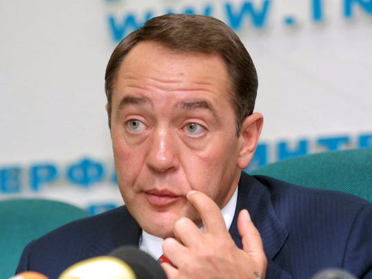 Mikhail Lesin is seen in this 2002 photo