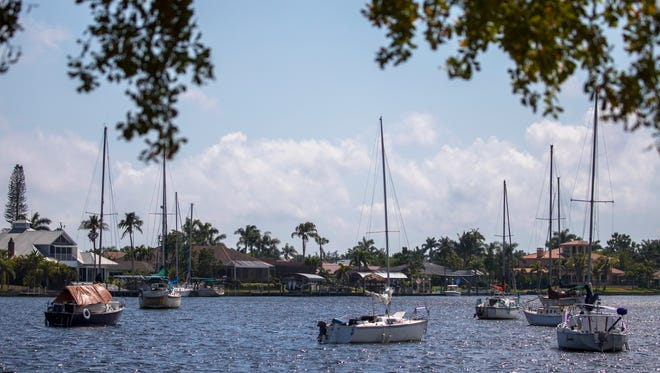 A view of Bimini Basin near Downtown Cape Coral on the afternoon of April 9, 2018.