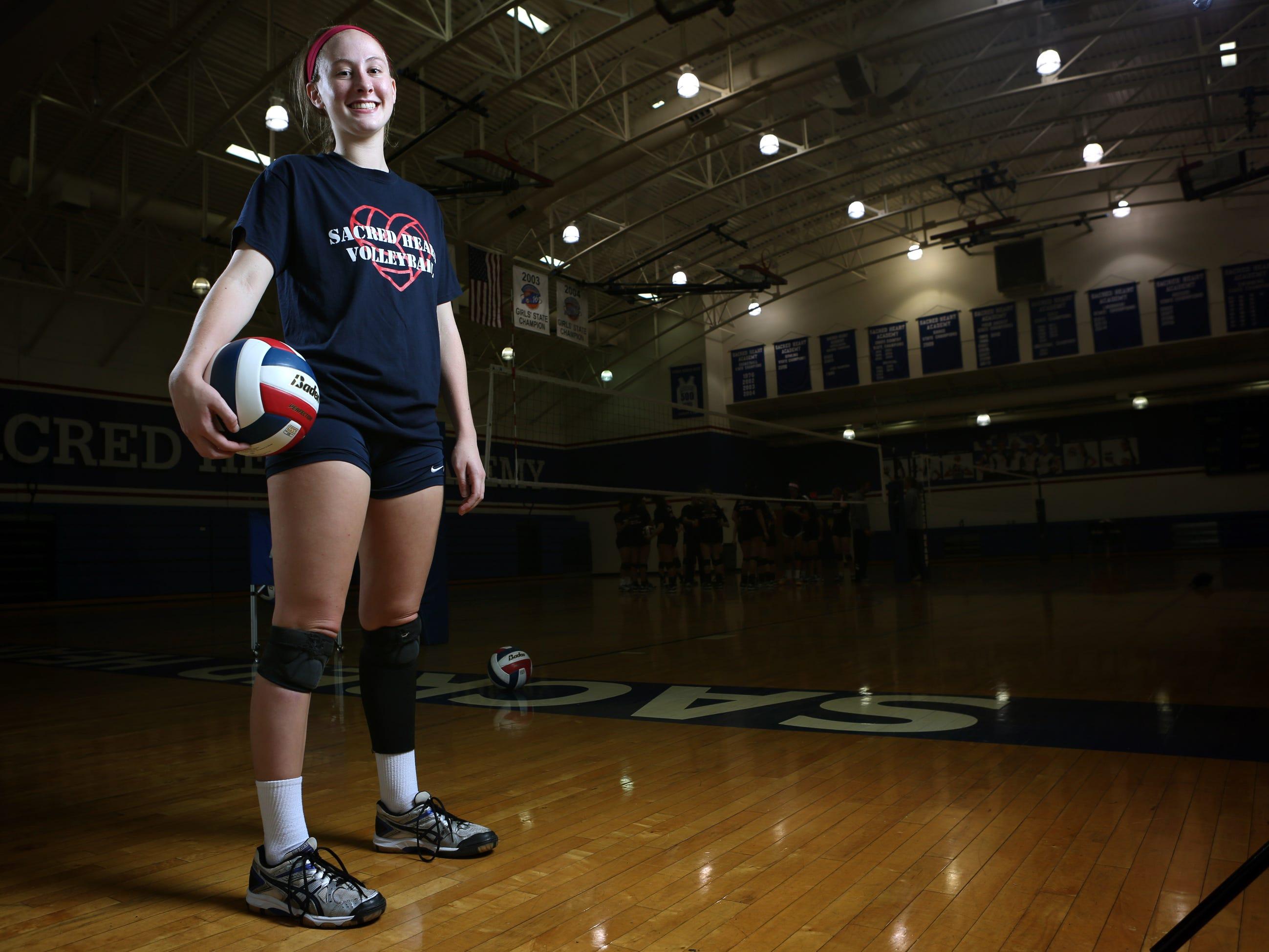 Sacred Heart Academy' volleyball player Sydney Shearn. Nov. 5, 2014.