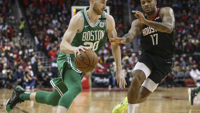 """I think we're all trying to find our rhythm, find our groove,"" Celtics forward Gordon Hayward said."