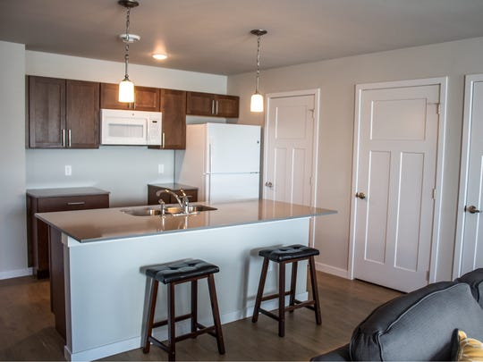 The interior of a unit at the Westown Place Apartments is pictured here. The apartment complex was built after Forest City Economic Development raised private investment.