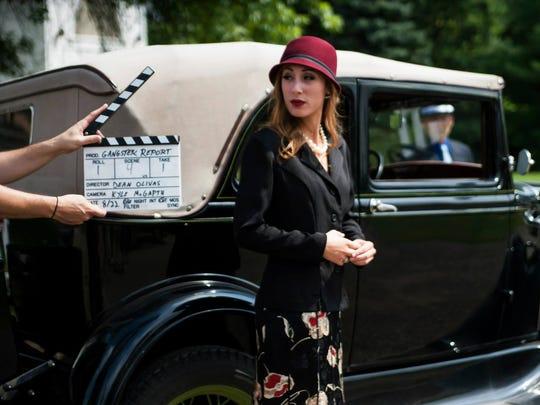 Anna Dreslinski gets ready to shoot a scene during