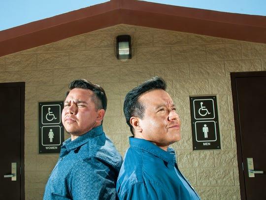Vib Gonzales, left, and JT Perez, two transgender men