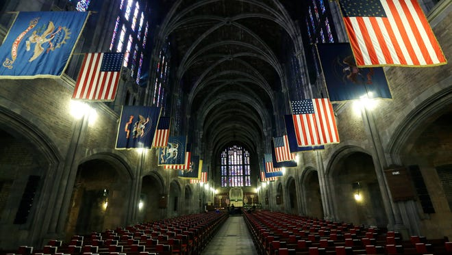 The Cadet Chapel at the U.S. Military Academy in West Point, N.Y.