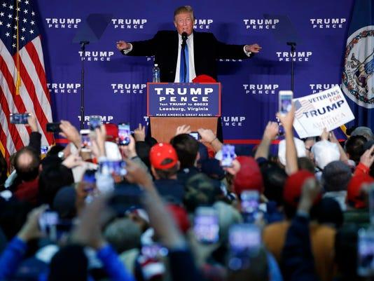 AP CAMPAIGN 2016 TRUMP A ELN USA VA
