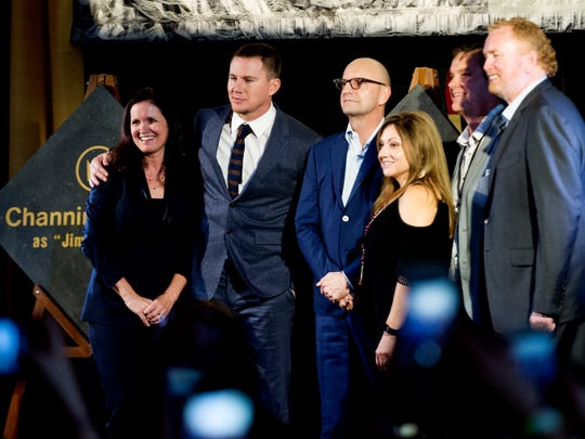 Channing Tatum and director Steven Soderbergh during the Regal Entertainment Group's 2017 red-carpet fundraiser benefiting Variety of East Tennessee at Regal Pinnacle Stadium 18 in Knoxville, Tennessee on Wednesday, August 9, 2017.Variety ChildrenÕs Charity of Eastern Tennessee helps children with disabilities or who are at risk. This year's event featured a visit by actor Channing Tatum.