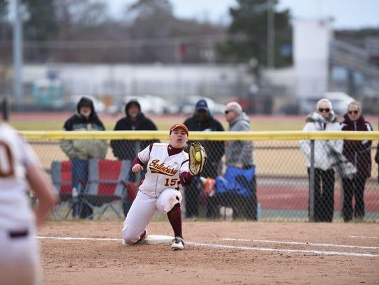 Salisbury University softball first baseman Paige Knussman