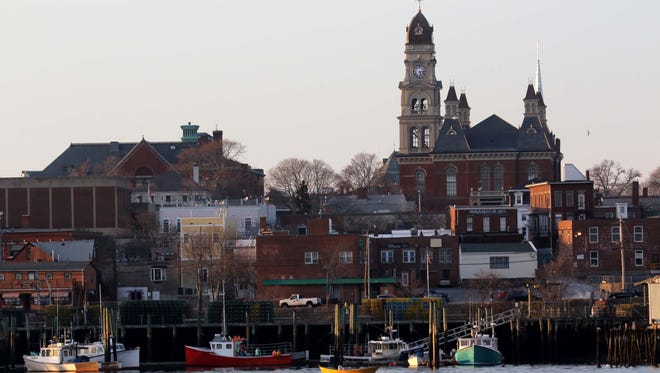 A view of the small fishing town of Gloucester, Mass.