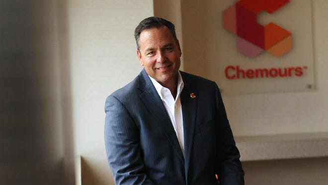 Chemours CEO Mark Vergnano at in the offices of the Hotel DuPont.