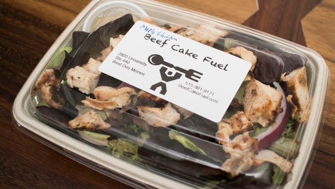 The Maple Mustard Chicken Salad from Beef Cake Fuel in West Des Moines.