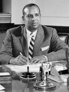 Dr. W.S. Davis, president of Tennessee A&I State College, in his office on Oct. 10, 1956.