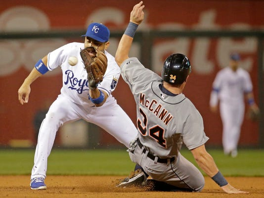 James McCann Omar Infante Tigers Royals