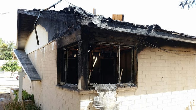 A Glendale house fire Thursday afternoon left a family of six displaced.