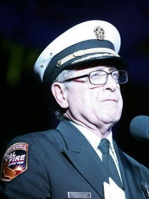 This Desert Sun file photo shows Cal Fire and Riverside County Fire Chief John Hawkins. He announced he's recovering from a heart attack he suffered on April 3.