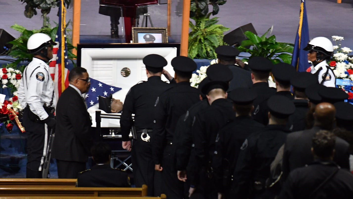 Watch live: Funeral being held for slain Detroit cop