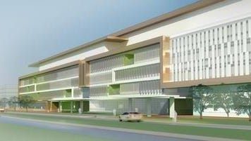 A rendering shows what the proposed new Louisville VA Medical Center would look like at 4906 Brownsboro Road.