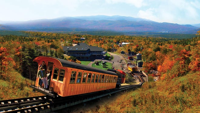 The Mount Washington Cog Railway, which is operating at half capacity in light of COVID-19, expects bookings to sell out for this year's peak foliage weekends.
