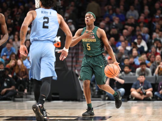 Michigan State Basketball >> Big Ten Acc Challenge Michigan State Basketball Vs Notre Dame