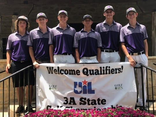The Merkel Badgers tied for third at the Class 3A boys state golf tournament on Tuesday in Austin, but lost a playoff for the bronze medal.
