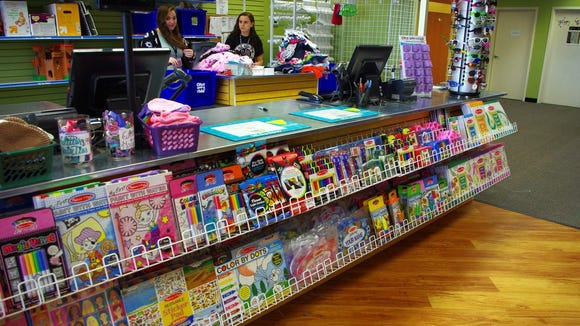 About 5% of the store's inventory is new stuff, including some great craft items from Melissa & Doug Crafts.