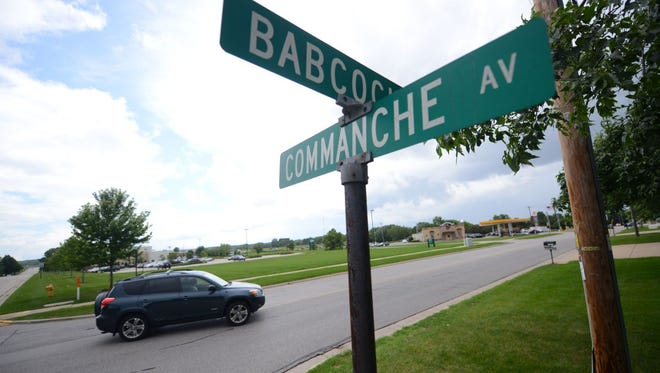 Traffic moves through the intersection of Babcock Road and Commanche Avenue in Ashwaubenon on Tuesday.