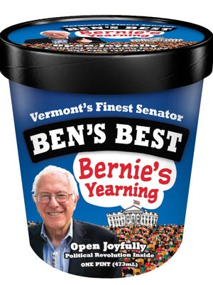Bernie's Yearning, the limited edition Bernie Sanders flavor made by Ben Cohen of Ben and Jerry's.