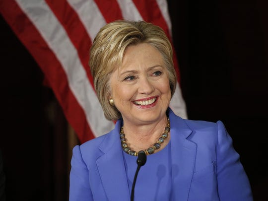 Democratic presidential candidate Hillary Clinton.