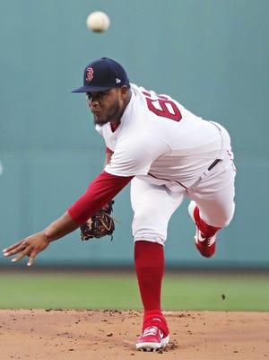 Darwinzon Hernandez made a lone Red Sox start against the Rangers last season.