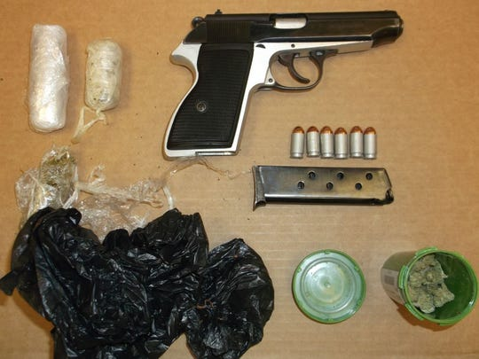 Monterey County  Sheriff's Office deputies seized marijuana and a seized handgun at the jail on Wednesday.