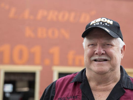 Owner Paul Marx outside KBON studios in Eunice Weds., May 31, 2017.