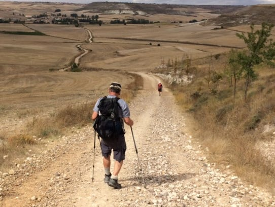 Hiking the the Camino De Santiago in Spain.