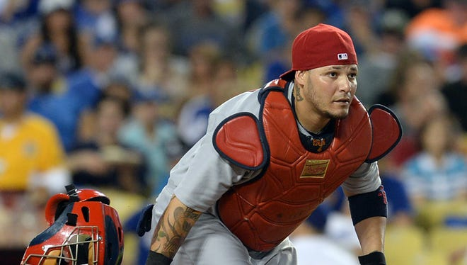Yadier Molina was batting .287 with seven homers and 30 RBI before injury.