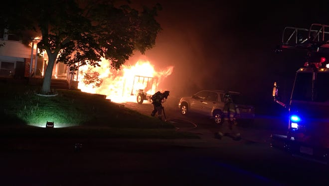 A predawn fire Saturday damaged a home on Upton Way in Blackwood.