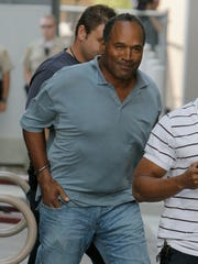 Former NFL player O.J. Simpson is transferred to the