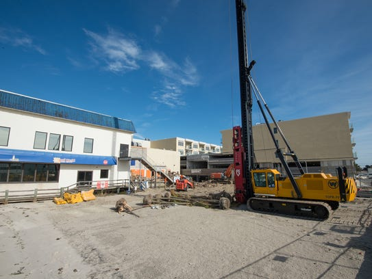 Demolition started on November 20 to begin the final phase of construction on the Lighthouse Cove area on Dickinson Street in Dewey Beach.