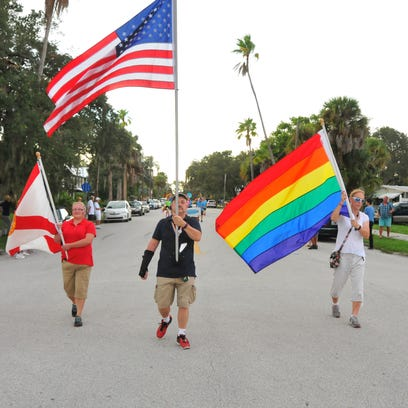 The start of the parade. The Space Coast Pride Parade
