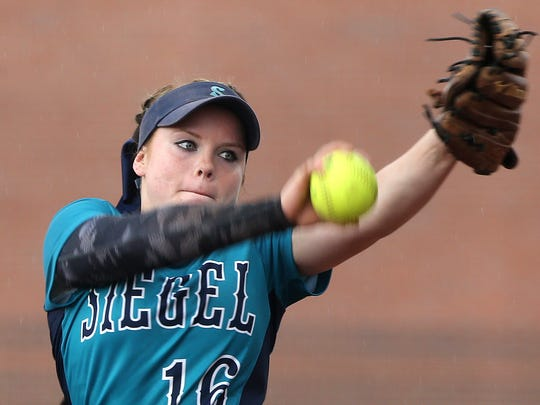 Siegel senior Veronica Westfall finished 40-4 with