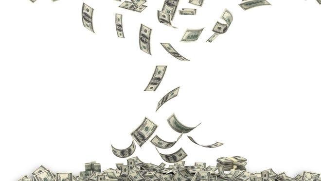 Flood of money.
