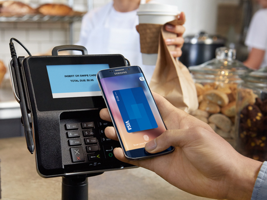 At more businesses, you can wave your phone over the card reader to pay. https://www.usatoday.com/story/tech/2019/03/06/can-ditch-my-wallet-smart-wallet-my-phone/3032297002/