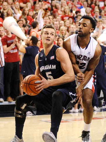 Brigham Young Cougars guard Kyle Collinsworth drives