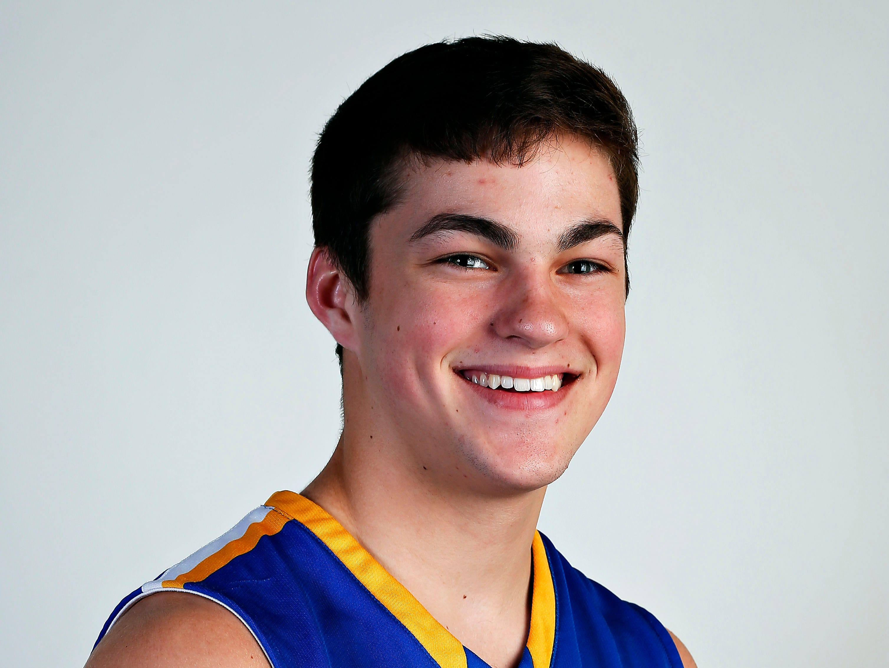 All Ozarks basketball team member Zach Chastain of Crane at the Springfield News-Leader portrait studio in Springfield, Mo. on April 29, 2015.