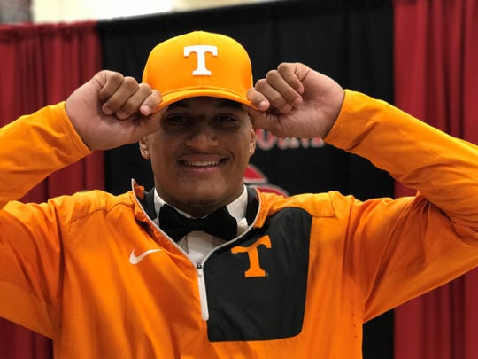 Coffee County senior Alontae Taylor signed with Tennessee on Friday, Dec. 22, 2017.