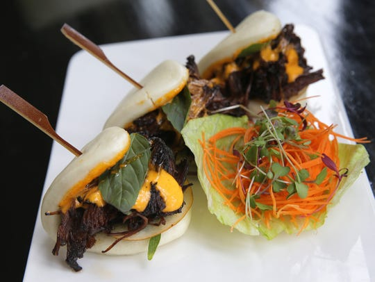 Short rib bao buns at Teak in Red Bank.