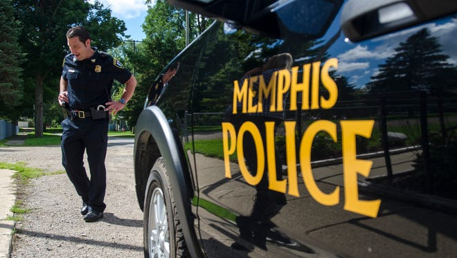 Memphis Police Chief Kevin Lauria and the rest of the police department get back to work Monday, Aug. 30, in Memphis.