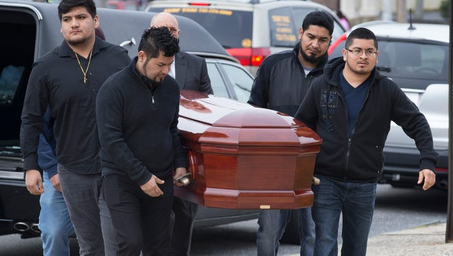 Funeral service for 10 year old Yovanni Banos-Mereno at Holy Spirit Roman Catholic Church in Asbury Park on March 1, 2018.