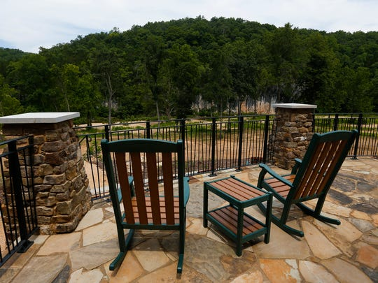 The lodge at Echo Bluff State Park, the centerpiece of Missouri's newest state park located about 21/2 hours east of Springfield, looks out at the bluff and Sinking Creek.