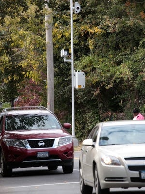 A red light traffic camera on East Lincoln Avenue pointed east at intersection of North Columbus Avenue in Mount Vernon on Oct. 14, 2015.