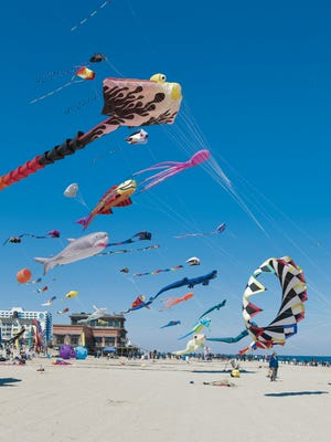 "Scenes from the first ""Kites at the Pier"" last year in Pier Village."