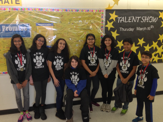 BRMS Central Jersey Science Fair Participants and Award