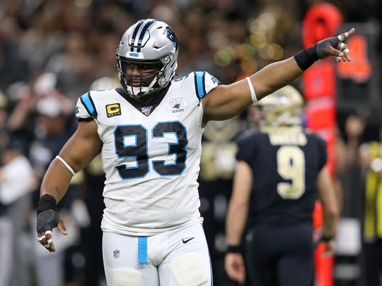 Gerald McCoy spent last season with Carolina after 9 years with Tampa Bay.